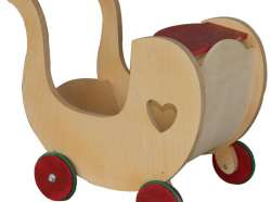 Carut jucarie din lemn