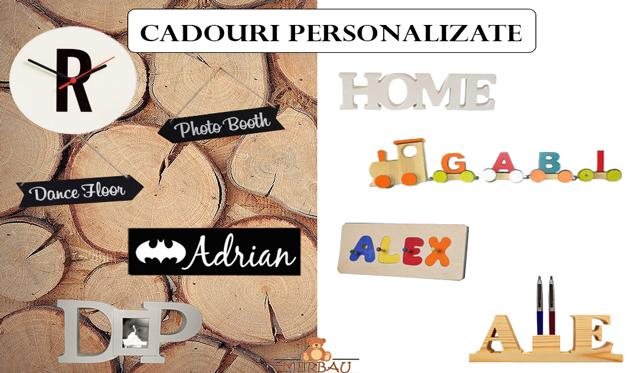 Cadouri personalizate din lemn